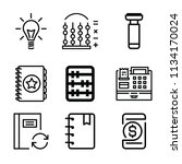 outline business icon set such... | Shutterstock .eps vector #1134170024