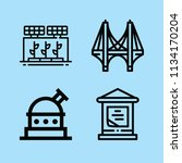 outline buildings icon set such ... | Shutterstock .eps vector #1134170204