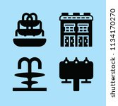 filled buildings icon set such... | Shutterstock .eps vector #1134170270