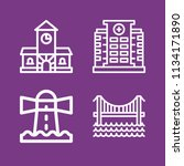 outline buildings icon set such ... | Shutterstock .eps vector #1134171890