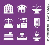 filled buildings icon set such... | Shutterstock .eps vector #1134172280