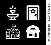 filled buildings icon set such... | Shutterstock .eps vector #1134173168