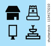 filled buildings icon set such... | Shutterstock .eps vector #1134173210