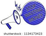 writing note showing stop... | Shutterstock . vector #1134173423