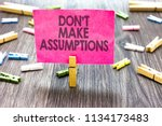 writing note showing don t not... | Shutterstock . vector #1134173483