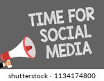 text sign showing time for... | Shutterstock . vector #1134174800