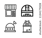 outline buildings icon set such ... | Shutterstock .eps vector #1134175028