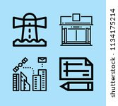 outline buildings icon set such ... | Shutterstock .eps vector #1134175214