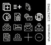 outline interface icon set such ...   Shutterstock .eps vector #1134175943
