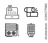 outline money icon set such as... | Shutterstock .eps vector #1134177083