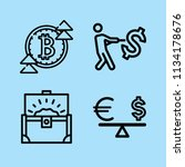 outline money icon set such as... | Shutterstock .eps vector #1134178676
