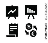 filled business icon set such... | Shutterstock .eps vector #1134180020