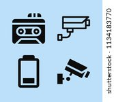 filled technology icon set such ... | Shutterstock .eps vector #1134183770