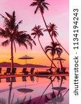 beautiful outdoor view with... | Shutterstock . vector #1134194243