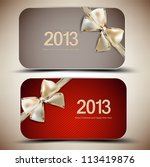 collection of gift cards with... | Shutterstock .eps vector #113419876