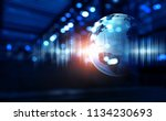 technology of sound | Shutterstock . vector #1134230693