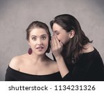 two fancy dressed actress girls ... | Shutterstock . vector #1134231326