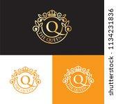 queen luxurious royal logo | Shutterstock .eps vector #1134231836
