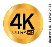 4k ultra hd resolution icon for ...   Shutterstock .eps vector #1134240488