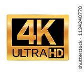 4k ultra hd resolution icon for ...   Shutterstock .eps vector #1134240770