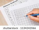 learn to write chinese... | Shutterstock . vector #1134242066