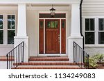 front view of a front house ...   Shutterstock . vector #1134249083