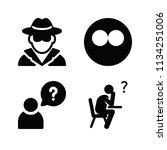 filled people icon set such as... | Shutterstock . vector #1134251006