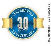 blue celebrating 30 years ... | Shutterstock .eps vector #1134252596