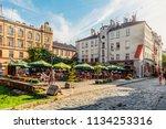 lviv  ukraine   july 10  2018 ... | Shutterstock . vector #1134253316