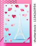 vector illustration love and... | Shutterstock .eps vector #1134263954