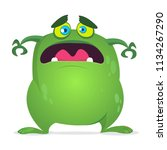 scary cartoon monster. vector... | Shutterstock .eps vector #1134267290