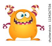 funny cartoon monster. vector... | Shutterstock .eps vector #1134267536