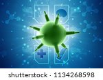 3d rendering viruses in... | Shutterstock . vector #1134268598
