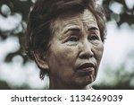 walking in elderly women | Shutterstock . vector #1134269039