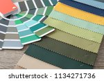 upholstery fabric samples and... | Shutterstock . vector #1134271736