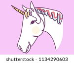 continuous line drawing of a... | Shutterstock .eps vector #1134290603