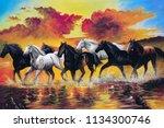 Free Horse Runs Through The...