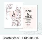 vintage elegant wedding... | Shutterstock .eps vector #1134301346