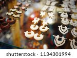 accessories   earring for sale... | Shutterstock . vector #1134301994