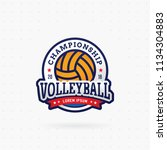 volleyball tournament logo ... | Shutterstock .eps vector #1134304883