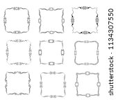 set of vector vintage frames on ... | Shutterstock .eps vector #1134307550