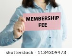 membership fee message on a... | Shutterstock . vector #1134309473