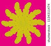 new symmetrical mandala in... | Shutterstock .eps vector #1134311474