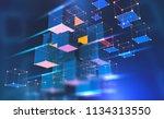 blockchain technology.... | Shutterstock . vector #1134313550