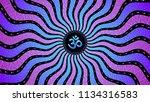 divinely symbol om  spiritual... | Shutterstock .eps vector #1134316583