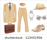men's clothes and accessories... | Shutterstock . vector #113431906