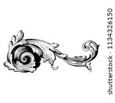 retro baroque decorations... | Shutterstock .eps vector #1134326150