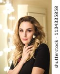 portrait of make up artist...   Shutterstock . vector #1134335858