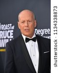 Small photo of LOS ANGELES, CA - July 14, 2018: Bruce Willis at the Comedy Central Roast of Bruce Willis at the Hollywood Palladium