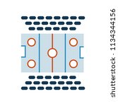 hockey pitch icon vector icon....   Shutterstock .eps vector #1134344156